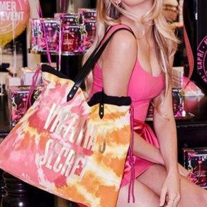 Victoria's Secret Tie-Dye Beach Tote💖🧡💛